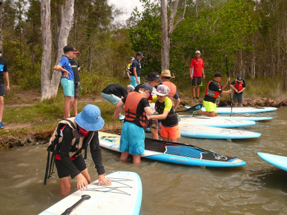 camp-paddleboarding